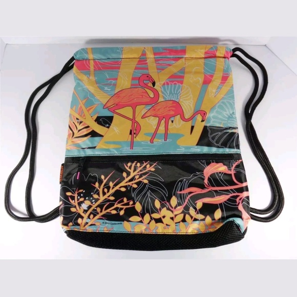 5d293a60b532 NAUTICAL FLAMINGO BIRD BACKPACK AND MINI POUCH Boutique